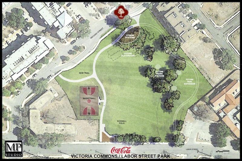 Rendering of Labor Street Park improvements.
