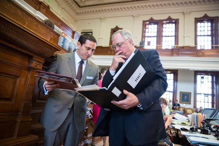 Rep. Trey Martinez Fischer (D-Dist. 116) with Rep. Drew Darby (R-Dist. 72). Courtesy photo.