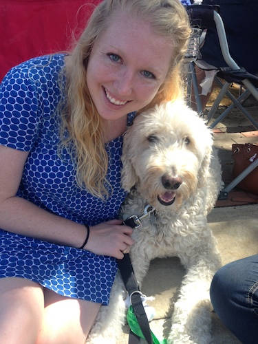 Kelly Beevers and her dog, Acie won an H-E-B lookalike contest. Courtesy photo.