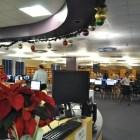 The library at Brackenridge HIgh School. Photo by Iris Dimmick.