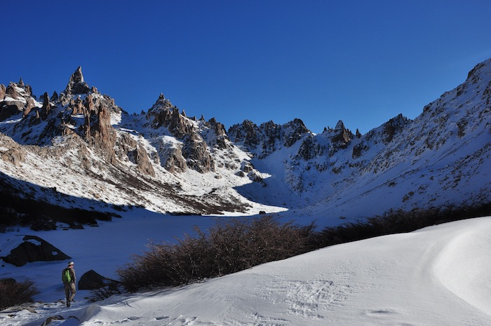 Cameron Redus stands in a valley near Cerro Catedral mountain, Argentina. Photo by Everett Redus.