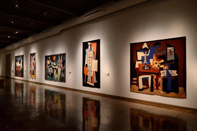 Installation of Nelson Rockefeller's Picassos: Tapestries Commissioned for Kykuit. Photo by Page Graham.