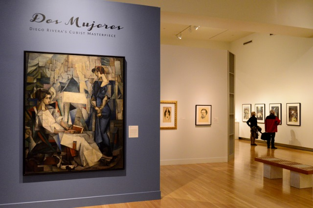 """Installation of Rivera's """"Dos Mujeres."""" Photo by Page Graham."""
