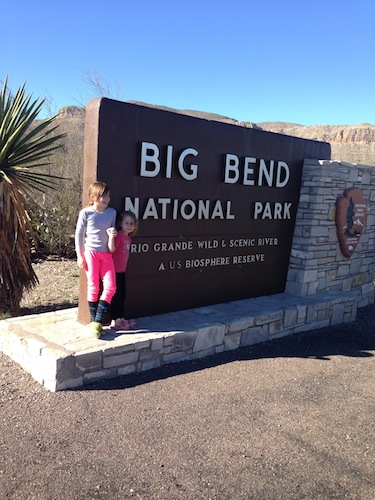 Campbell Taylor at the entrance of Big Bend National Park.