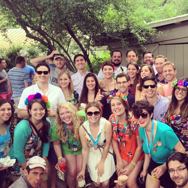 Young professionals celebrating Fiesta. Photo courtesy of Kelly Beevers.