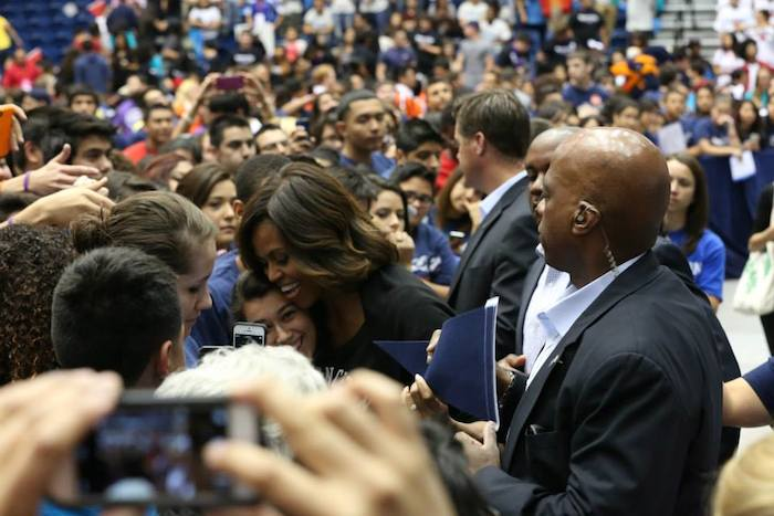 First Lady Michelle Obama launched the Reach Higher Campaign during San Antonio's College Signing Day at UTSA. Photo courtesy of SA2020.