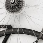 Spokes and tubes at a recent Earn-A-Bike BScuela session. Photo by Rachel Chaney.