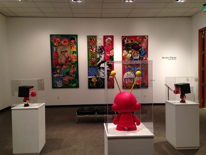 """The """"New Works"""" exhibit by Hector Garza at the UTSA downtown campus' art gallery. Photo by Scott Gustafson."""