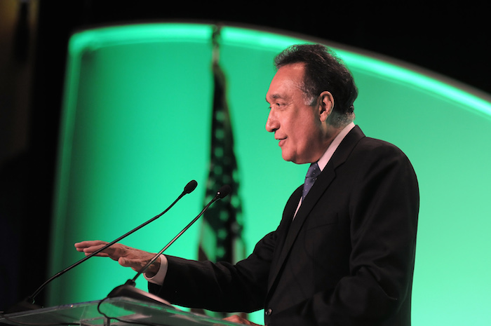Henry Cisneros, chairman of CityView and the former San Antonio mayor and Secretary of Housing and Urban Development in the Clinton administration, was the keynote speaker at the annual San Antonio Chamber of Commerce gala at the Grand Hyatt Hotel . Courtesy photo.