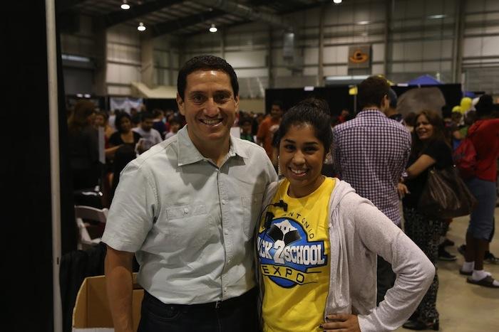 Rep. Trey Martinez Fischer at the 2014 Back 2 School Expo. Courtesy photo.