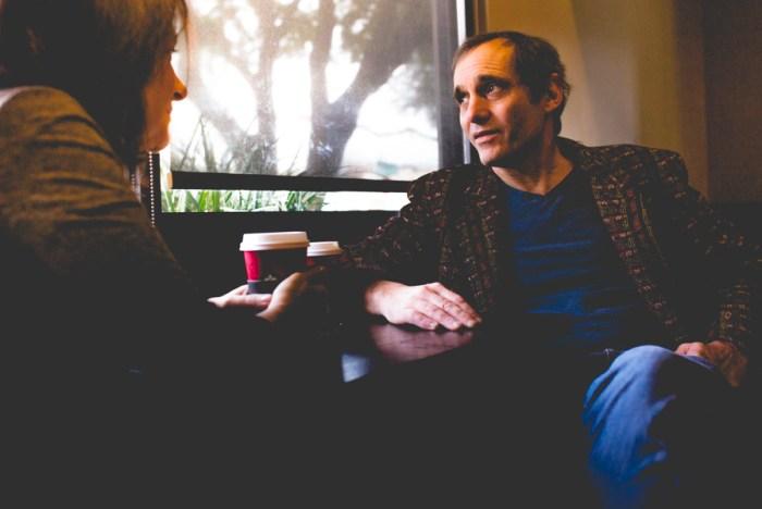 Cathy Siegel and Scott Becker of Bohanan's enjoy a cup of coffee. Photo by Scott Ball.