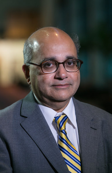 Ismail Jatoi, professor and chief of the division of surgical oncology and endocrine surgery at the University of Texas Health Science Center at San Antonio, spoke at the San Antonio Breast Cancer Symposium. Photo courtesy of the SABCS.
