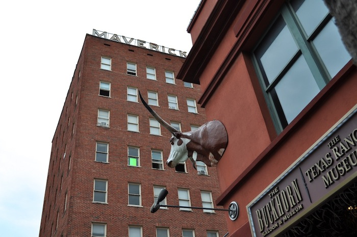 The Maverick Building is located across Presa Street from the Buckhorn Saloon and Museum. Photo by Iris Dimmick.