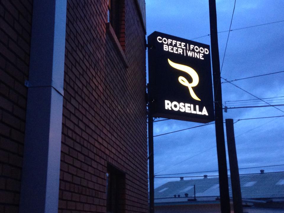 Rosella sign at night. Courtesy photo.