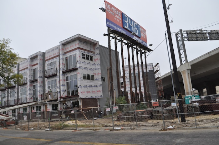 Under construction: SOJO Urban Development's East Quincy Townhomes on the River. Photo by Iris Dimmick.