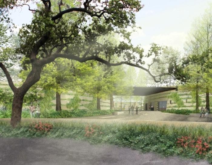 Rendering of the San Antonio Botanical Garden entry from Garden Boulevard. Courtesy image.