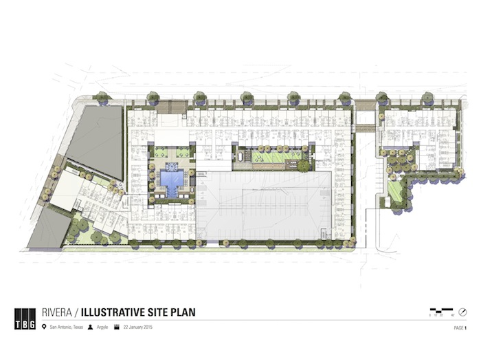 Site map of Rivera complexes, 1130 Broadway St. Image courtesy of TBG.