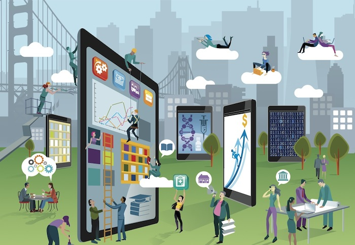 Detail of cover art on Milken Insititute's 2014 Best Performing Cities Index.