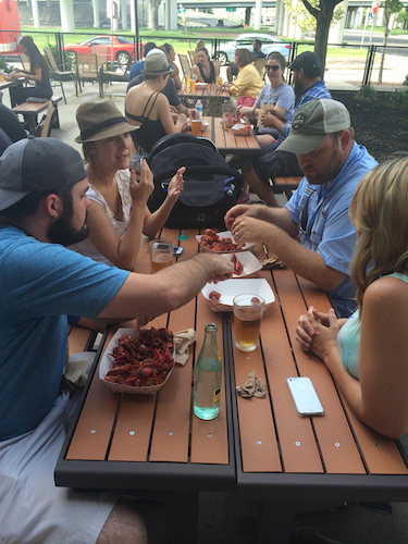 Crawfish at GS1221. We'll save some for Rachel Holland for when she returns. Courtesy photo.