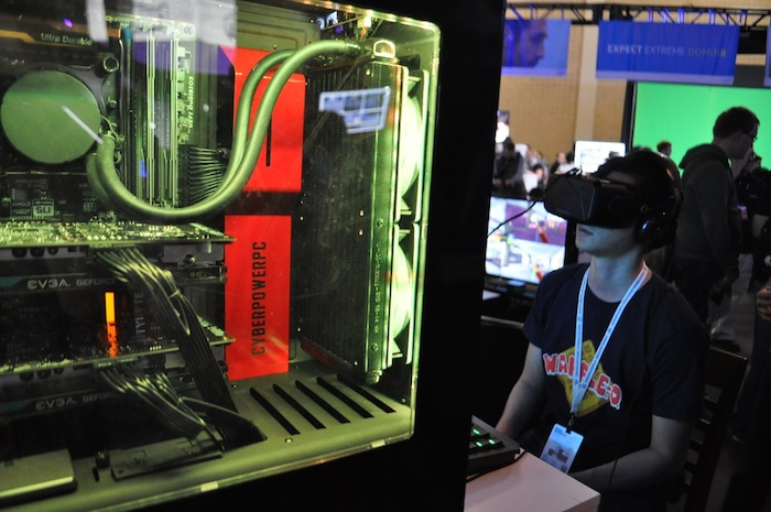 Attendees try out new games during PAX South. Photo by Iris Dimmick.