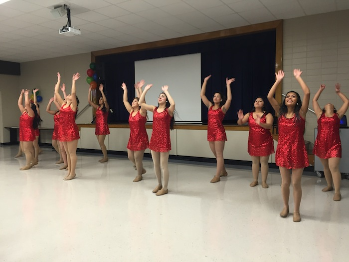 Edison Golden Girls perform a jazz number at the SAISD Board Appreciation Ceremony. Photo by Robert Rivard.