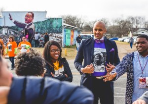 District 2 Councilmember Alan Warrick II at the 2015 MLK March. Photo by Scott Ball.