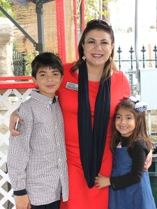 Texas House District 123 candidate Melissa Aguillon poses for a photo with her children Benjamin, 10, and Karina, 6. Courtesy photo.