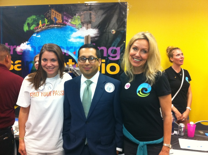 From left: Rachel Holland, Diego Bernal and Andi Rodriguez pose for a photo. Courtesy photo.