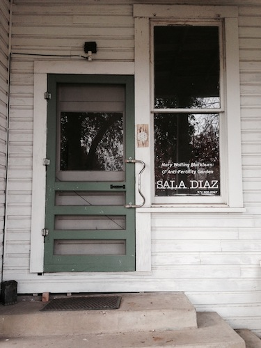 The door at Sala Diaz. Image courtesy of Wendy Atwell.