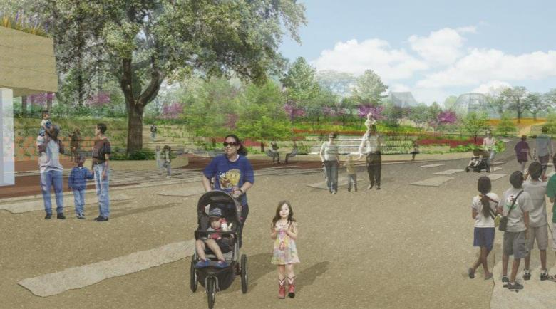 Rendering of the San Antonio Botanical Garden's future Welcome Center view. Courtesy rendering.