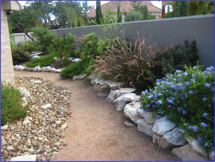 A xeriscaped lawn. Photo courtesy of Gardening Volunteers of South Texas.