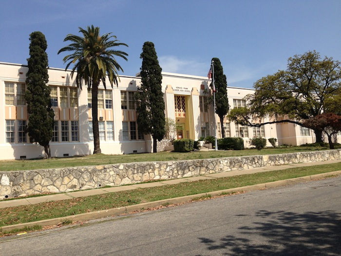 A sunny day at Young Women's Leadership Academy, 2123 W. Huisache Ave. Photo by Bekah McNeel.