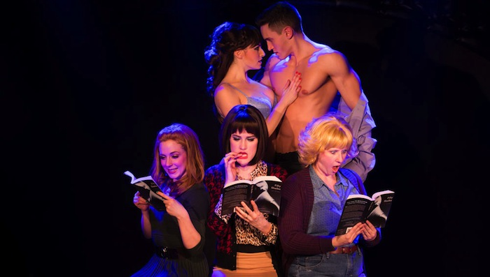"""New York cast of """"50 Shades! The Musical Parody"""" includes Casey Rogers, Alec Varcas, Kaitlyn Frotton, Chloe Williamson and Ashley Ward. Photo by Matthew Murphy.-"""