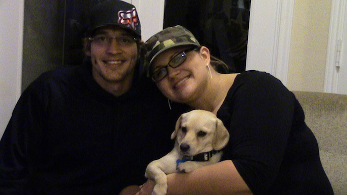 Chance with his new family, Michael and Stacey Williams. Courtesy photo.