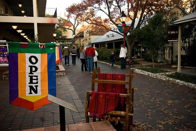 Shops are open at La Villita. Photo courtesy of the City of San Antonio.