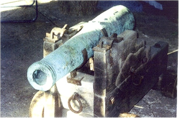 The cannon in its pre-restoration state. Photo provided by Dr. Gregg J. Dimmick.
