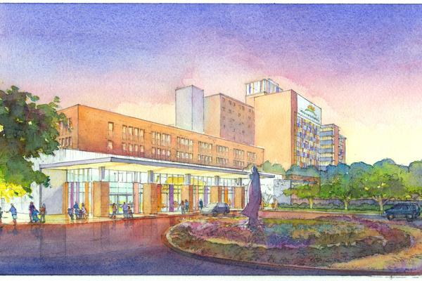 Rendering of Christus Santa Rosa Health System's new Children's Hospital of San Antonio. Courtesy of Overland Partners.