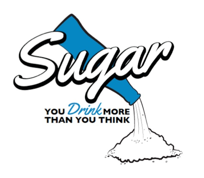 A campaign that never was. This brand name and logo were designed by Interlex and recommended for the sugary drink reduction campaign based on surveys and focus groups; but Big Soda didn't like it one bit.