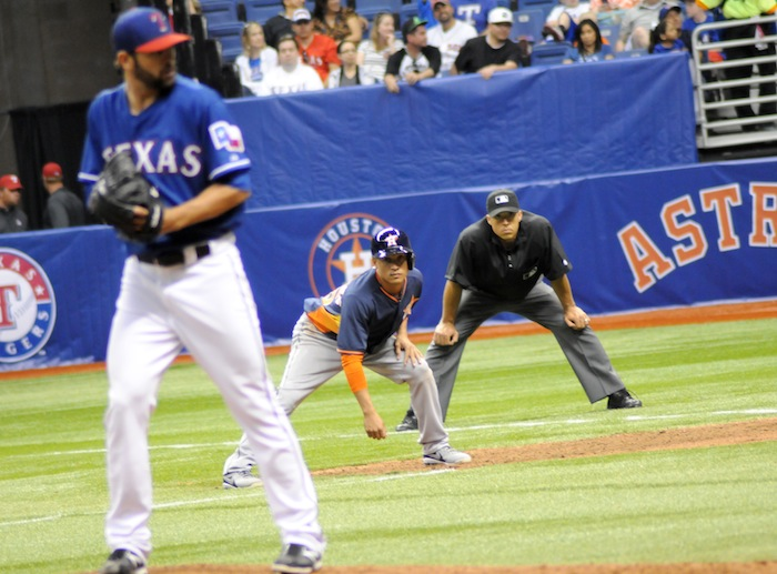 The Texas Rangers and Houston Astros faced off during Big League Weekend 2014 at the Alamodome. Photo by Kristian Jaime.