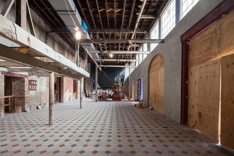 Emma's lobby under construction, February 2015. Photo by Scott Martin.