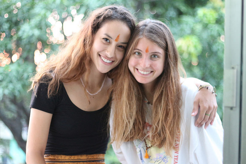 Marina and I at our graduation ceremony at Rishikesh Yog Peeth. Courtesy photo.