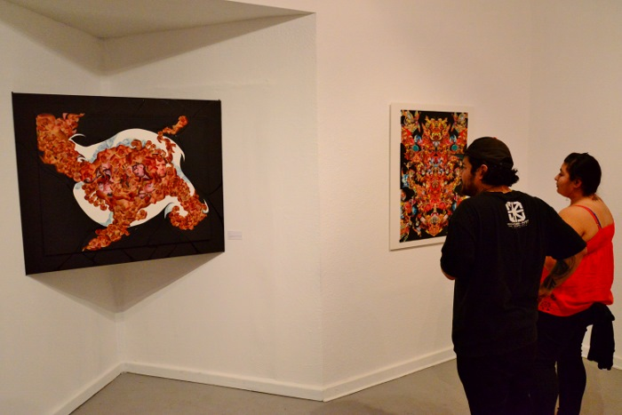 Works by Robert Jeffrey at AP Art Lab. Photo by Page Graham.