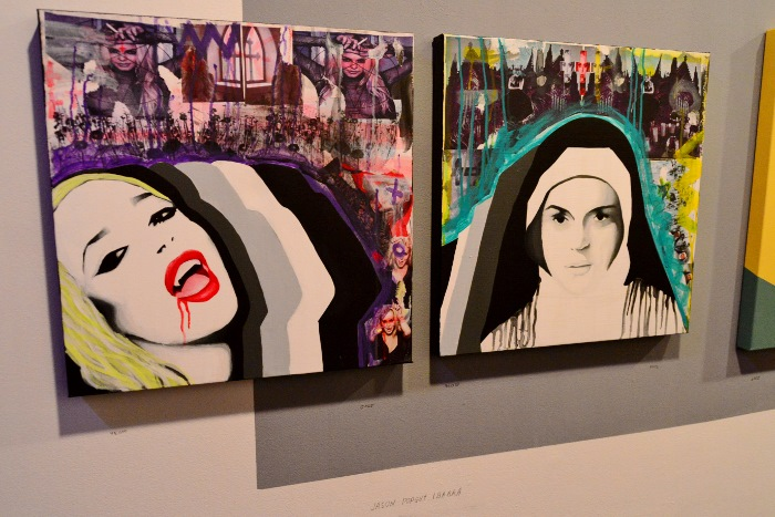 Paintings by Jason Popguy Ibarra at Silkworm Gallery. Photo by Page Graham.