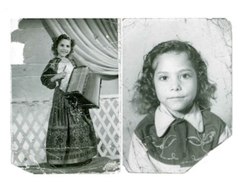 Eva Ybarra, born in San Antonio, started playing the accordion as a young woman. Courtesy photo (undated).