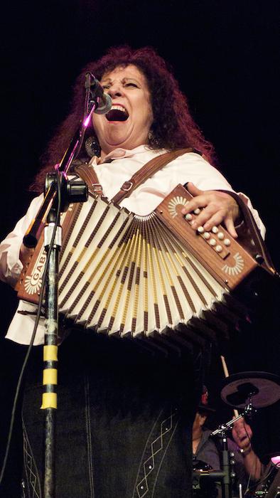Eva Ybarra during a recent performance. Courtesy photo.