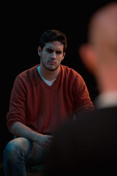 "Rick Baldwin, played by actor Alejandro Cardona in the ""Irish Curse"" at the Tobin Center. Photo by Siggi Ragnar."