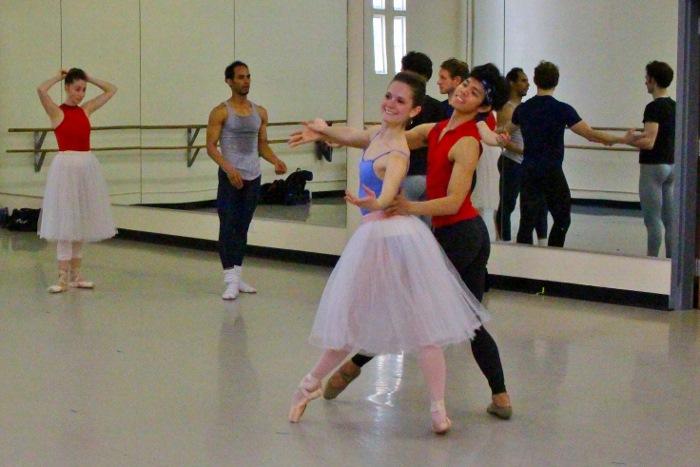 Ballet San Antonio rehearses Balanchine. Photo by Tami Kegley.