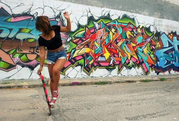 Skater culture and street art often combine to create visible influences in both scenes. Photo by Szagold.
