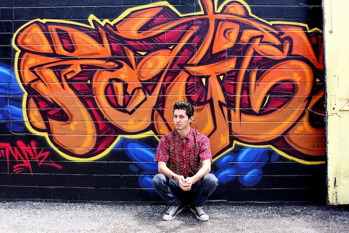 Szagold uses her photography skills to combine street art and fashion. Photo by Szagold.