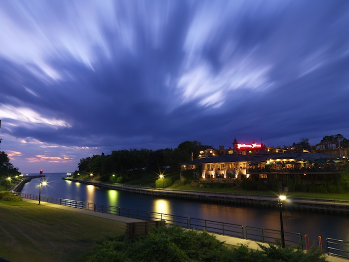 The Weathervane restaurant looks over the channel in downtown Charlevoix. Photo by Mike Schlitt.